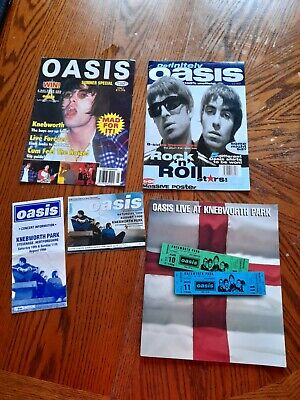 Oasis Live At Knebworth Park Programme, Ticket , Information Leaflet,... • 10£