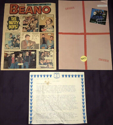Madness Joblot Of MIS Issue 9 Comic, MIS Order Form, Beano Comic & Vintage Badge • 46£