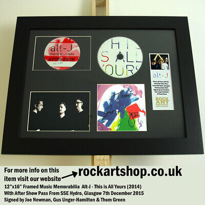 Alt-J SIGNED BY JOE+GUS+THOM This Is All Yours Autographed +ROAD CREW PASS WORLD • 79.98£