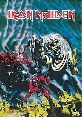Iron Maiden Number Of The Beast Large Fabric Poster / Flag 1100mm X 700mm (hr)   • 9.99£
