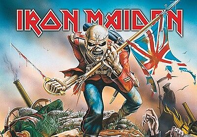 Iron Maiden The Trooper Large Fabric Poster / Flag   1100mm X 750mm (hr)   • 9.99£