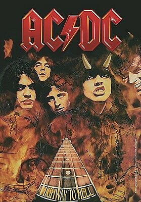 AC/DC Highway To Hell Large Fabric Poster / Flag   1100mm X 750mm (hr)   • 9.99£