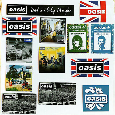 26 X Oasis Stickers - Liam Noel Gallagher Poster Pretty Green Definitely Maybe • 7.99£