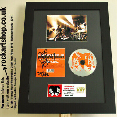 Death From Above 1979 SIGNED JESSE +SEBASTIEN Romantic Rights Autographed WORLD • 99.98£