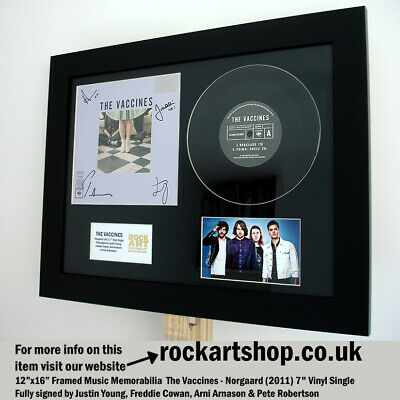 The Vaccines SIGNED JUSTIN YOUNG Norgaard 7  VINYL SINGLE Autographed WORLD SHIP • 99.98£