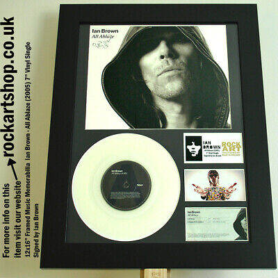 Ian Brown SIGNED 7  VINYL SINGLE All Ablaze Autographed WORLD SHIP Stone Roses • 119.98£