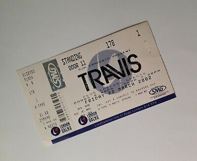 Travis Tickets / Memorabilia - Rare Unused Ticket Stub London Arena 22/03/02 • 3.99£