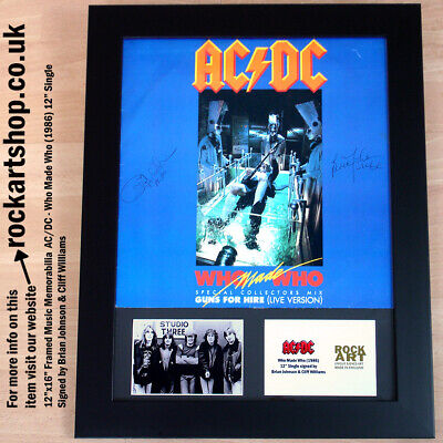 AC/DC SIGNED BRIAN JOHNSON +CLIFF WILLIAMS Who Made Who Vinyl AUTOGRAPHED *World • 259.98£