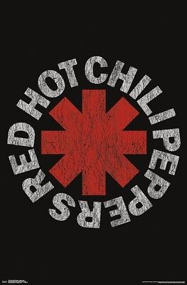 Red Hot Chili Peppers CLASSIC 1980s-1990s LOGO Official Rock Band POSTER • 6.66£