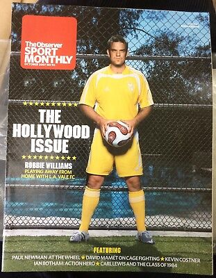 The Observer Sport Monthly Magazine October 2007 - Robbie Williams Cover  • 7£