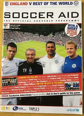 Soccer Aid Official Souvenir Programme 27 May 2006 - Robbie Williams • 4.50£