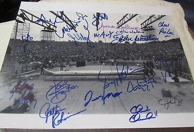 Woodstock 1969 Signed 11X14 Stage By 19 (3 Deceased ) Kantner Winter  Wavy + 17  • 187.62£