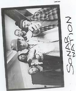 SONAR NATION Thoughts On Anyone PHOTOGRAPH UK Promo Only Photo With Info Sheets • 2.09£