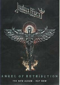 JUDAS PRIEST Angel Of Retribution FLYER Europe Sony Bmg A5 Flyer For Album With • 2.09£