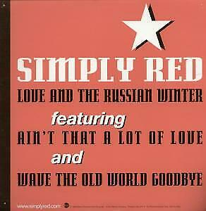 SIMPLY RED Love And The Russian Winter CARD UK East West 1999 12  X 12  • 2.09£