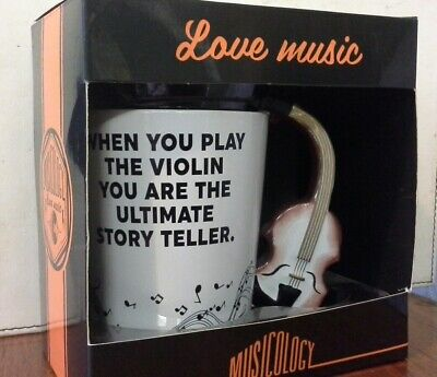 Violin Ceramic Mug - When You Play The Violin You Are The Ultimate Story Teller  • 7.99£