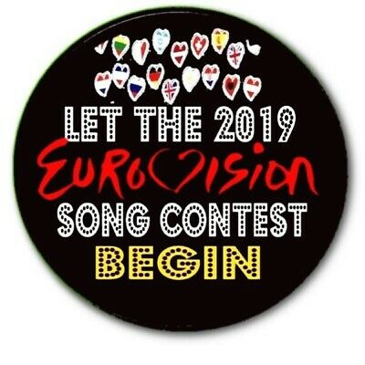 Eurovision Song Contest Country Badges/ Eurovision Sweepstake~ 55 Mm/ 2.2   • 34.99£