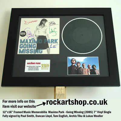 Maximo Park FULLY SIGNED PAUL SMITH Going Missing VINYL SINGLE 2005 Autographed • 79.98£