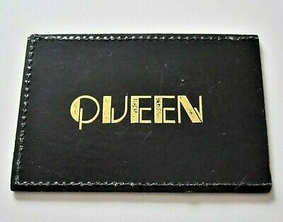 QUEEN : Vintage 1980s Official Fan Club Membership Card Holder • 17.95£