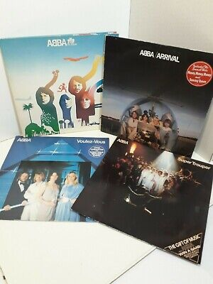 VINYL RECORDS -- 4 Off ABBA ALBUMS -- THE GREATEST HITS FROM THE GREATEST BAND • 24.99£
