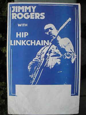 CHICAGO BLUES POSTER: JIMMY ROGERS With HIP LINKCHAIN 11 X 17 Original • 9.85£