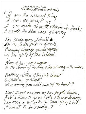 The Doors Poster Page . Jim Morrison The Palace Of Exile Handwritten Lyrics .m54 • 5.99£