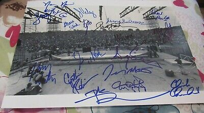 Woodstock 1969 Signed 11X14 Stage By 19 Pete Townshend Slick Wavy Winter Nevins • 293.79£