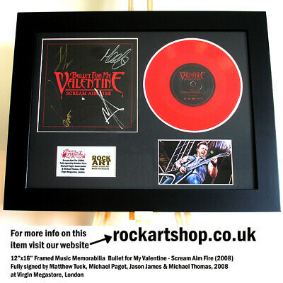 Bullet For My Valentine SIGNED MATTHEW TUCK VINYL Scream Aim Fire Autographed  • 139.98£