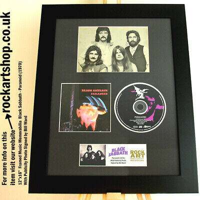 Black Sabbath SIGNED BY BILL WARD Paranoid 1970s PHOTO Autographed Ozzy Osbourne • 239.98£