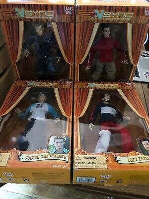 Rare NSYNC 2000 Collectible Marionette Dolls:  JC, Joey, Justin • 13.50£