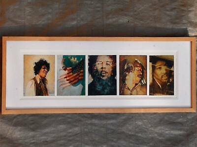 Jimi Hendrix - Artwork / Painting - Original Mixed Media 5 Frame [Pentaptych]  • 895£