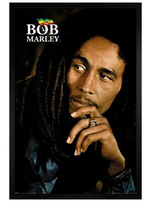 Bob Marley Poster Black Wooden Framed Legend 61 X 91.5cm • 31.49£
