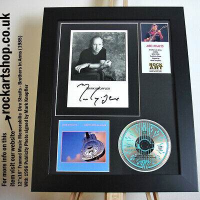 Dire Straits SIGNED MARK KNOPFLER Brothers In Arms Autographed Framed WORLD SHIP • 249.98£
