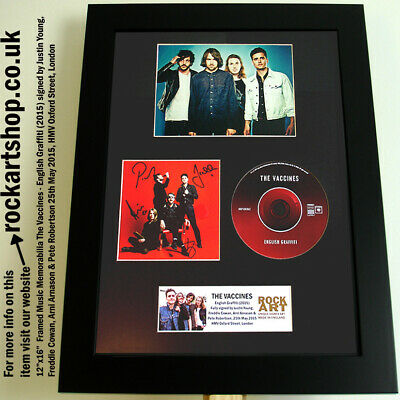 The Vaccines FULLY SIGNED JUSTIN YOUNG English Graffiti Autographed Framed WORLD • 79.98£