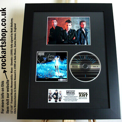 Muse SIGNED MATT BELLAMY +CHRIS+DOMINIC At Solo Music 1999 Autographed WorldShip • 349.98£