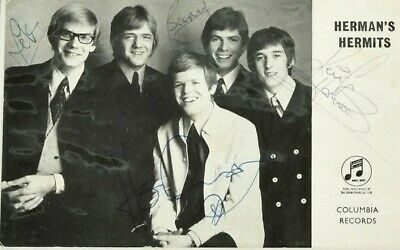 HERMANS HERMITS - Official Columbia Promotional Autographed Group Postcard  • 29.95£