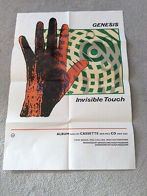 Genesis Invisible Touch Promotional Poster • 50£
