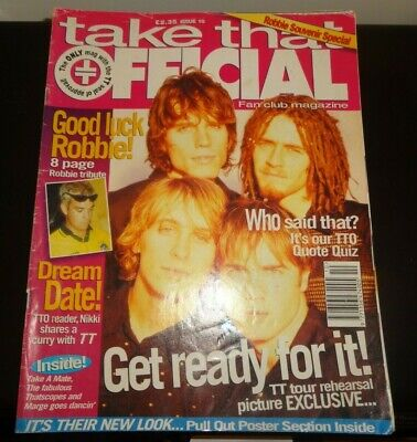Take That Official Magazine Issue 10 1995 - Robbie Williams Souvenir Special • 4.99£