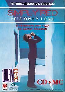 SIMPLY RED/ENYA It's Only Love/day Without Rain FLYER Russia A4 Size Full • 3.14£