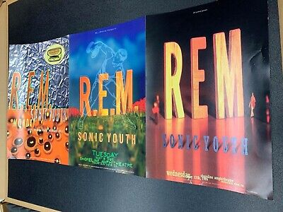 OFFICIAL REX RAY COLLECTION STORE - Rex Ray - R.E.M.  1995 Posters 3 In 1  (3) • 23.81£