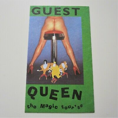 QUEEN : Original 1986 Magic Tour Concert Guest Pass Freddie Mercury Unused • 37.95£