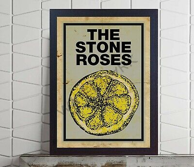 Stone Roses Lemon Concert The Stone Roses Album Poster FRAMED Or UNFRAMED  • 16.99£