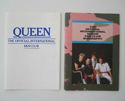 QUEEN : Official Queen Fan Club Biography 1986 Book Magazine + Jacket • 20.95£