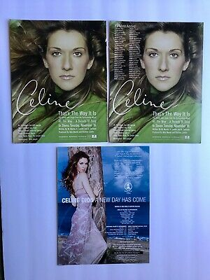 Trade Ad -  Celine Dion - Set Of Three Ads • 11.97£