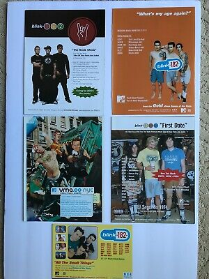 Trade Ad -  Blink 182  - Set Of FIVE Ads • 11.85£