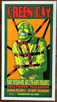 MINT & SIGNED Green Day Hollywood Palladium 1994 TAZ Poster 202/400 • 156.30£