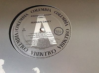 Mariah Carey - There's Got To Be A Way - 1991 UK Promo Only 4trk 12  Vinyl, Rare • 35£