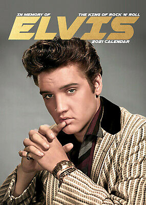 Elvis Presley 2021 A3 Poster Size Calendar New And Sealed  • 8.99£