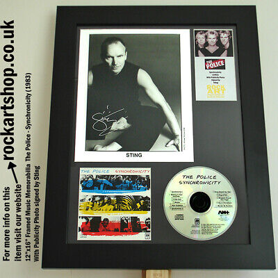 The Police SIGNED STING Synchronicity PRESS PHOTO Autographed Summers Copeland • 239.98£