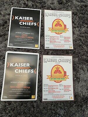 Kaiser Chiefs Off With Their Heads Tour Promo Concert Flyer 2008 And 2015 Leeds • 0.99£
